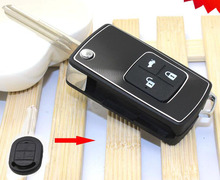 3 Buttons Modified Flip Folding Remote Key Shell Case For Buick Excelle HRV Fob Key Cover