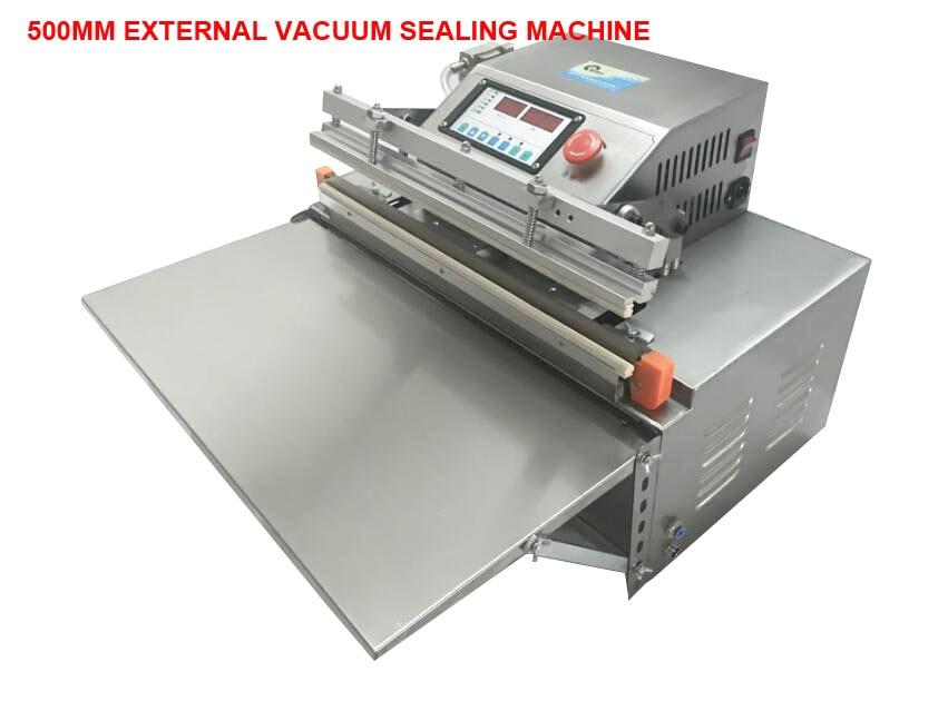 Image 2 - 500 External vacuum packaging Automatic Food Vacuum Sealer Food Packing Machine Continous Bag Vacuum Sealing Machine Food SaverVacuum Food Sealers   -