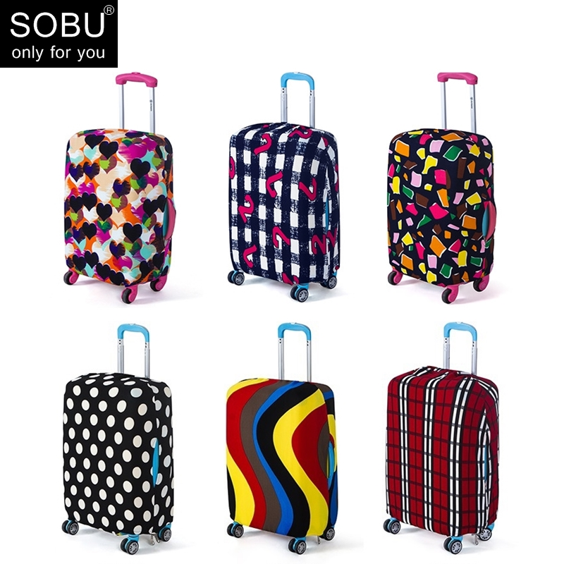 Travel Luggage Cover Suitcase Protective Trunk Covers Apply To 18~30 Inch Case Elastic Stretch Trolley Case Dust Cover N077