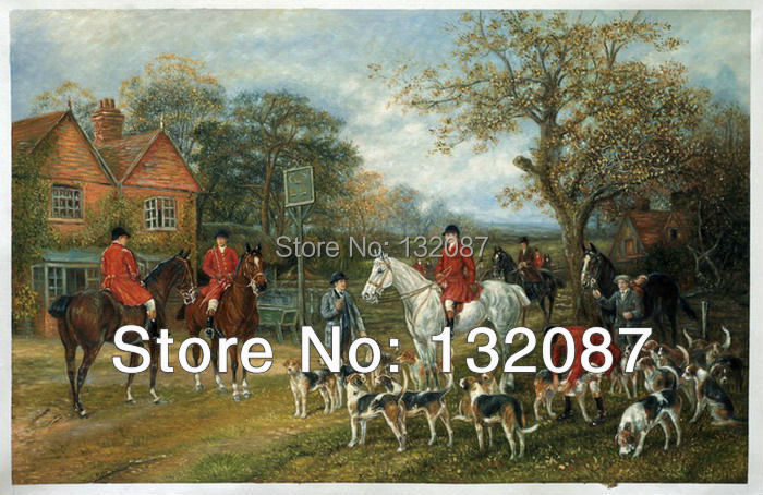 Free Shipping Meeting Before The Fox Hunt By Heywood Hardy Oil Painting On Canvas Hand Painted