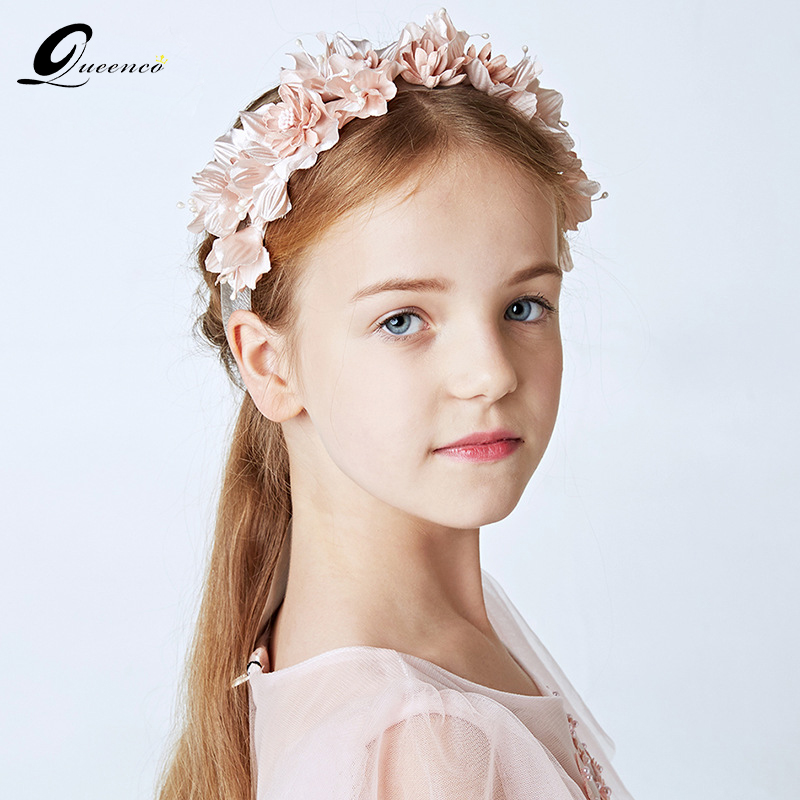 Children Wedding Hair Style: QUEENCO Fishion Children Flower Headband Cute Style Rose