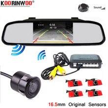 Koorinwoo – capteur de stationnement de voiture sans fil 16.5mm, système de rétroviseur de moniteur 4.3, caméra de recul Parktronic