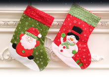 1pcs Christmas decorations stockings on gift bag 26 cm high small