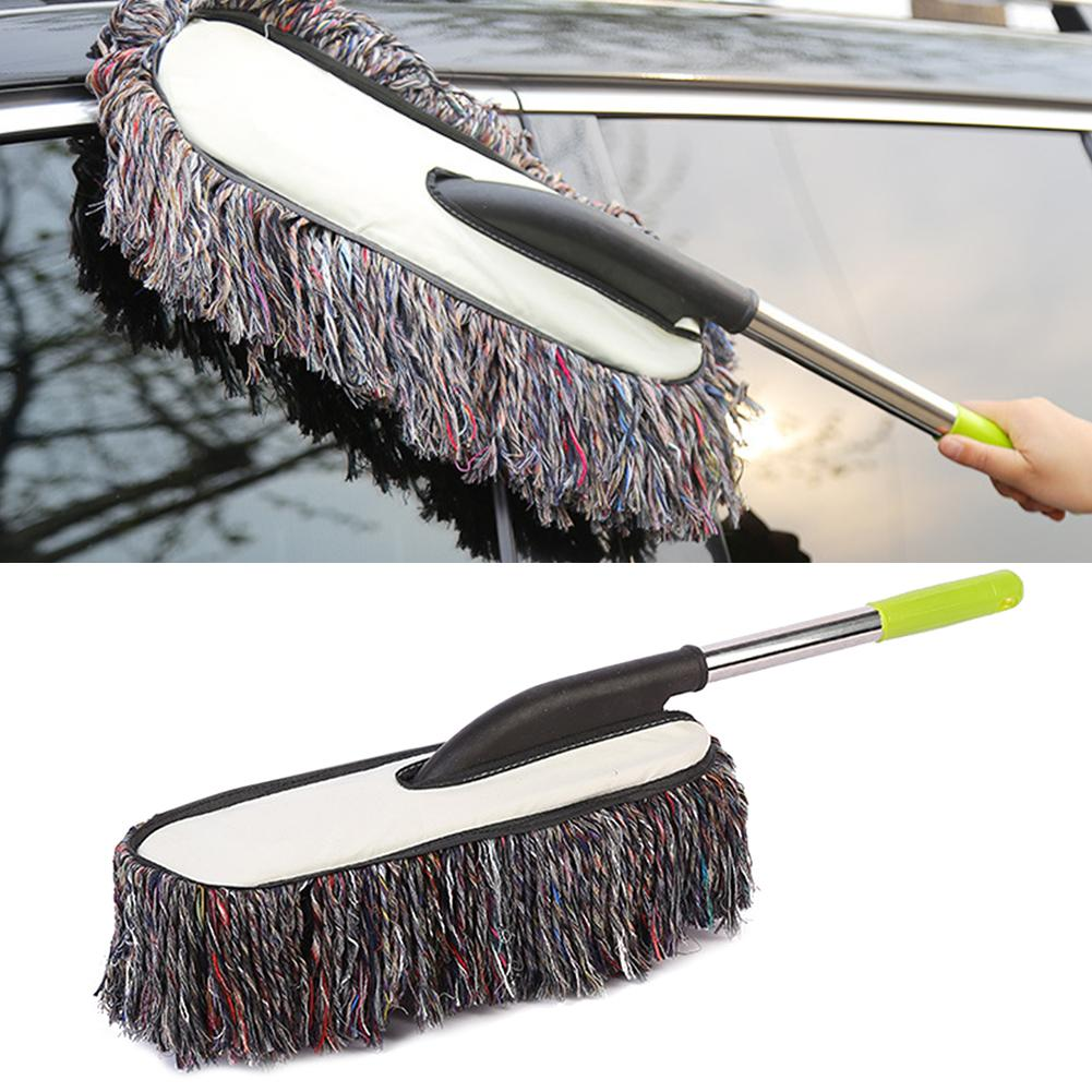 Car Clean Wash Mop Brush With Stainless Steel Grip Dust Removal Brush Cleaning Tool Clean And Maintain The Surface Of The Paint