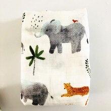 Elephant70% bamboo30% хлопок детское муслиновое одеяльце подгузники для новорожденных одеяла марли Детские спальные сумки для заворачивания в виде swaddleme банное полотенце