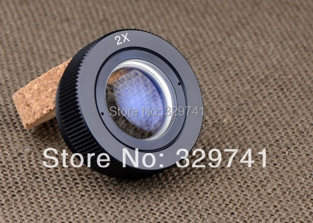 2x Auxiliary Objective Lens for Stereo Microscope Parts Accessories Fitting Accessory Free Shipping fyscope szm 0 5x auxiliary objective lens for stereo zoom microscope wd 177mm