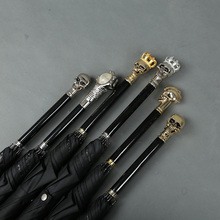 Skull umbrella straight automatic gift