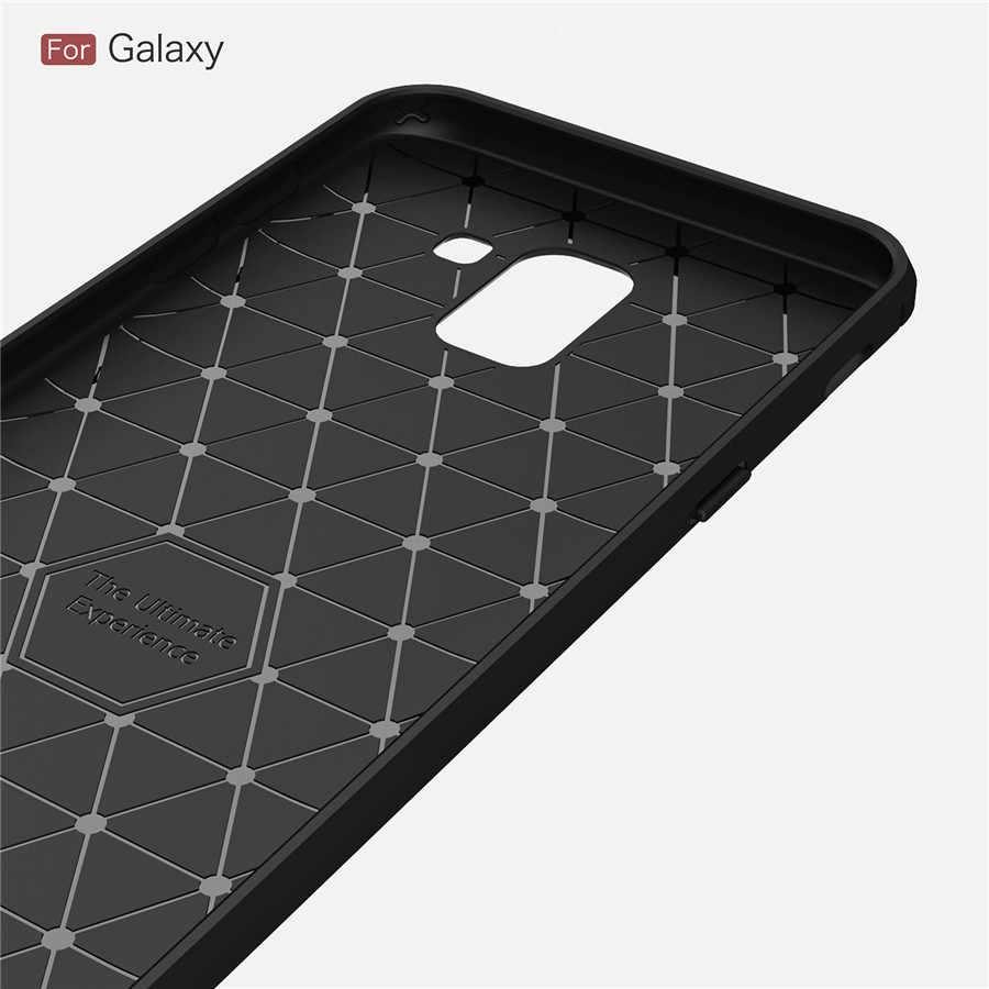 Antiurto Telefono Custodie Per Samsung Galaxy J6 J4 2018 Più J3 J7 J8 2018 J3 J5 J7 2017 Della Copertura In Carbonio fibra di TPU Cassa Del Telefono Del Silicone