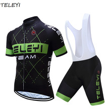 Pro TELEYI  Brand Bicycle Wear Ropa Ciclismo/Short Sleeve Cycling Jersey set /Maillot Cycling Clothing/Quick Dry Cycling jerseys
