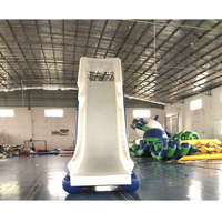 Summer games inflatable water boat slide .3m height inflatable yache slide for sale