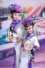 Xiao Ge Ge Little Princess 2015 New Design Photo House Costume Album Mother-Daughter Costume Sets Qing Dynasty Princess Costume(China)