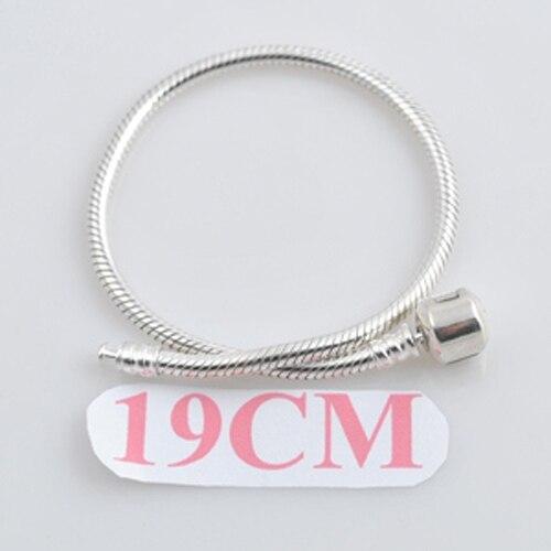 Хиты 2014 продажа оптовая продажа аутентичные 19 см длинные 925 серебряный браслет jwelry шарма бусины браслет ожерелье браслеты SL0119-AN