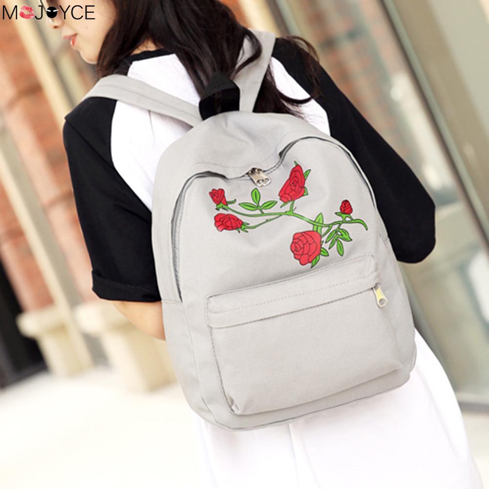 flores mulheres mochila de lona Modelo Número : Backpack