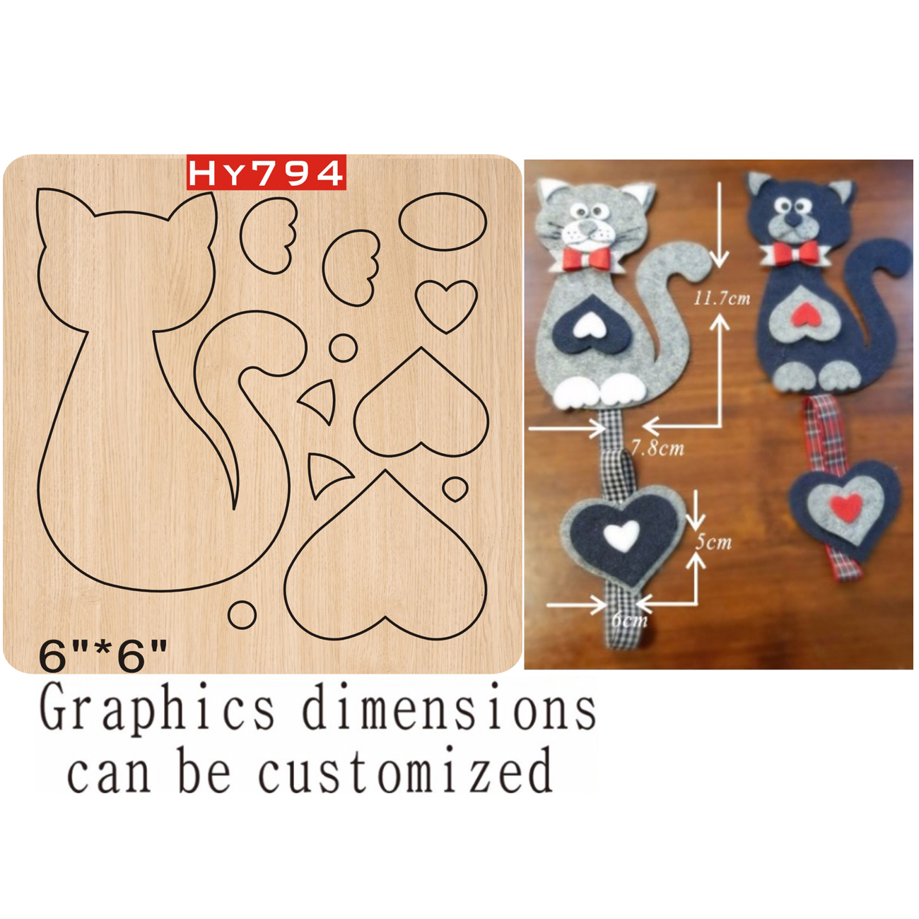 Cat Pendant Cutting Dies 2019 Die Cut & Wooden Dies Suitable  For Common Die Cutting  Machines On The Market