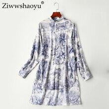 Ziwwshaoyu, высокое качество, хлопок, рубашка,, модная, длинный рукав, женская рубашка с отворотом, богемный, длинный, повседневный Топ