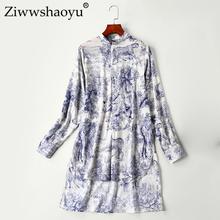 Ziwwshaoyu High quality 100 cotton shirt 2019 fashion long sleeve women s shirt lapel bohemian long