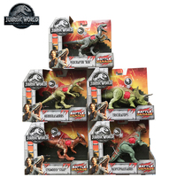 5PCS Original Jurassic World Toys Attack Pack Velociraptor Triceratops Dragon PVC Action Figure Model Dolls Toys For Children
