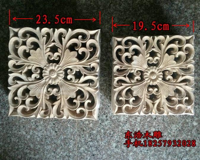 Wood carving flower applique fashion applique wood carving