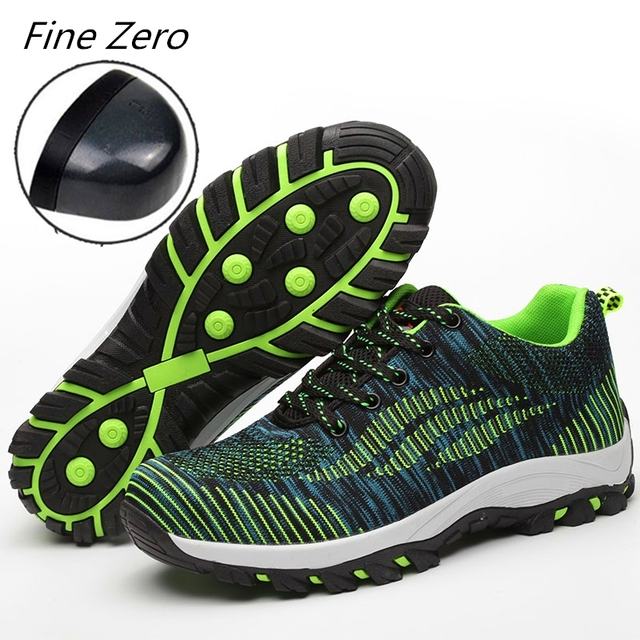 481cf44bbdf US $28.36 42% OFF New Men's Breathable Steel Toe Cap Work Safety Shoes Men  Outdoor Anti slip Steel Puncture Proof Construction Safety Boots Shoes-in  ...