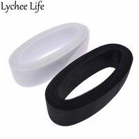Lychee Life 8cm 50 Yards Flat Stiff Crins Fabric Nylon Elastic Mesh Fabric DIY Handmade Apparel Sewing Clothes Accessories