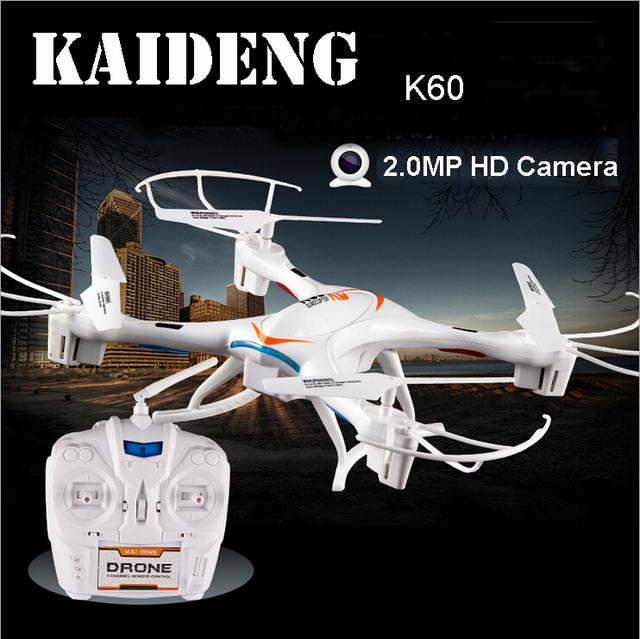 KAI DENG KD K60 2.4 ghz 5ch RC Quadcopter 6-axis Helicóptero Flip 3D una Tecla de Retorno Drone UFO w/Cámara de 2mp HD Fresco LLEVÓ La Luz RTF