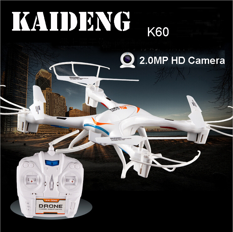 KAI DENG KD K60 2.4ghz 5ch 6-axis RC Quadcopter Helicopter 3D Flip One Key Return Drone UFO w/ 2mp HD Camera Cool LED Light RTF