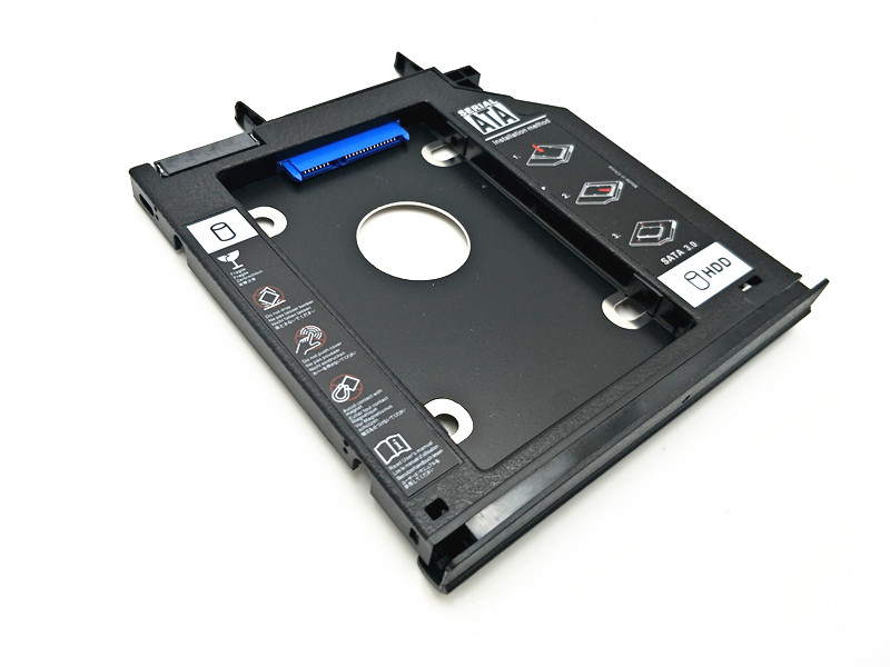 2nd HDD SSD Hard Drive Caddy For Lenovo IdeaPad Y500 Y500N Y510P + Bezel