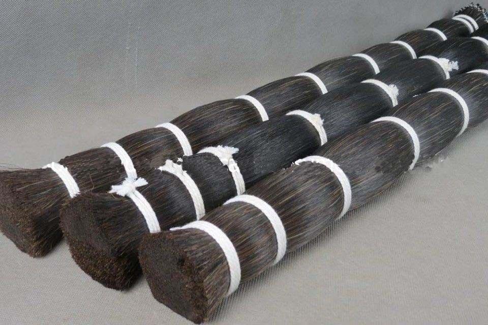 30 hanks violon alto violoncelle mongolie naturel noir arc cheveux cheval queue 80-85 cm