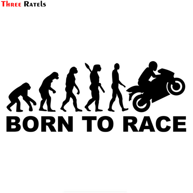 Us 1 05 19 Off Three Ratels Tz 1323 11 9 30cm Human Evolution Biker Race Car Stickers Funny Car Sticker Auto Decals In Car Stickers From