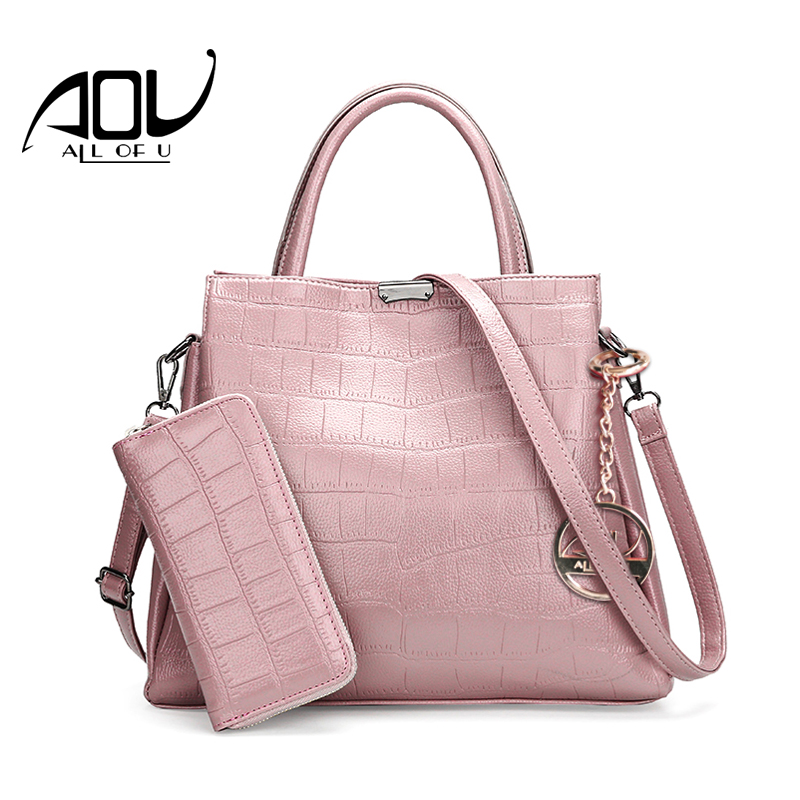 AOU Fashion Women Composite bags luxury handbags lady Stone leather Vintage wallet Female Shoulder Crossbody Bag sac a main aou new women classic bag brand chains bags women s fashion shoulder bag red celebrity crossbody bag sac a main china gift