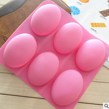 Handmade Oval Soap silicone Mold Goose Egg Cake Mould