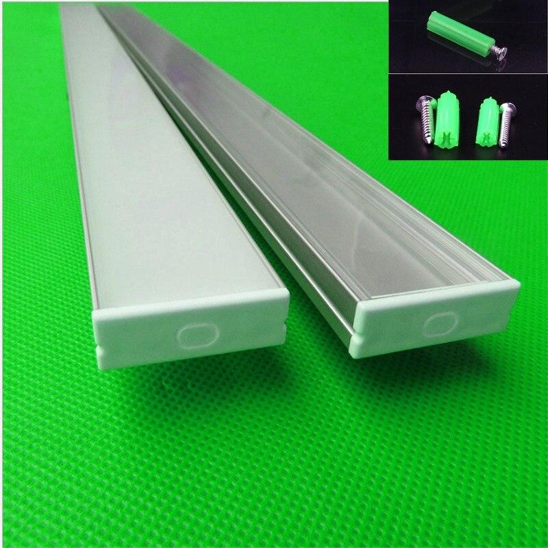 10-30 pcs/lot 40 pouces 1 m longue W30 * H10mm ultra mince led profil en aluminium pour double rangée 27mm led bande, linéaire bar boîtier de la lumière