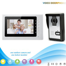 V70B-L 1V1 Manufacture 7 inch screen intercom system 4-line color video door phone with night vision for villa