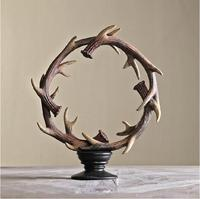 American antlers decorated European model room entrance to the decoration of the villa deer ring decor 0588