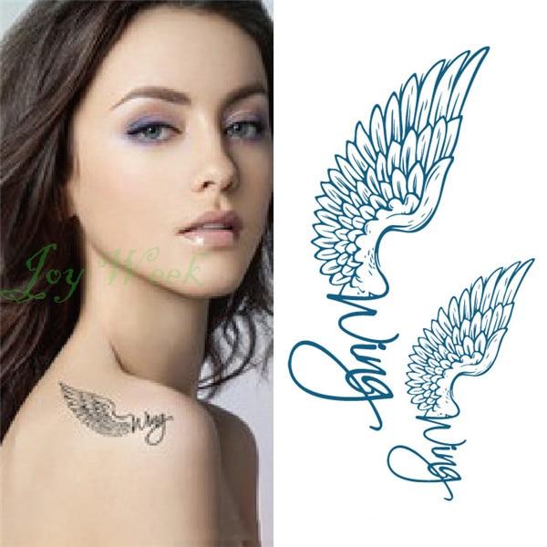 Us 049 Wodoodporna Tymczasowa Naklejka Tatuaż Na Body Art Skrzydła Anioła Tatuaż Transfer Seksowna Flash Tatuaż Fałszywe Tatuaże Dla Dziewczyn