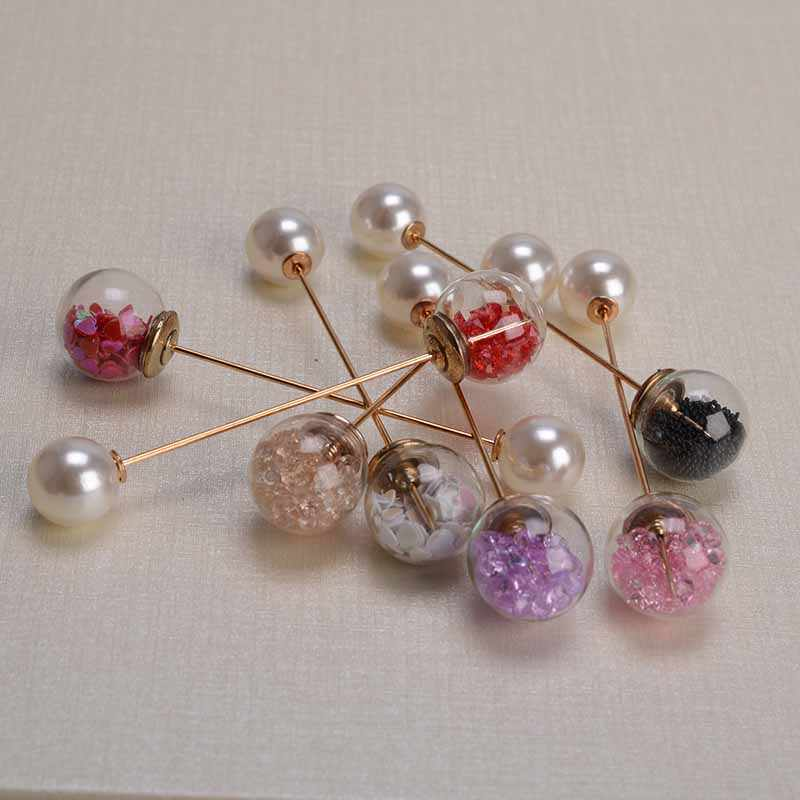 2019 Fashion 1Pc Ms./Girl Imitation Pearl Brooch Classic Charm High Quality Accessories Simple Crystal Brooch Women's Jewelry