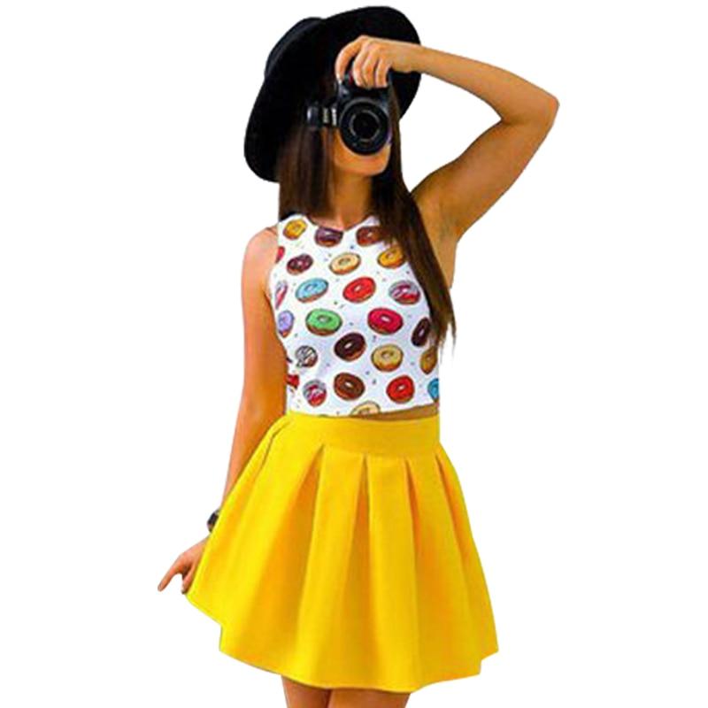 Womens Summer Dresses 2017 Summer New Fashion Sexy Women Print Mini Party Dresses Casual Cute Beach Two Piece Dress