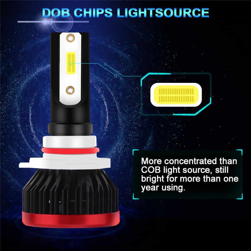 Mini LED Headlight Bulbs for Cars H4 H7 H11 9005 9006 DOB Chip Lamps Car Fog Lights 20000LM 6500K Day Night Running Lights