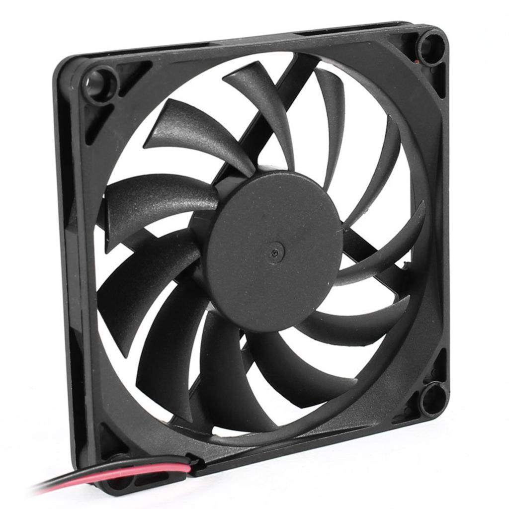 GTFS-Hot Sale 80mm 2 Pin Connector Cooling Fan for Computer Case CPU Cooler Radiator personal computer graphics cards fan cooler replacements fit for pc graphics cards cooling fan 12v 0 1a graphic fan