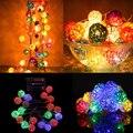20 Luz LED de Cadena de Bolas de Ratán Home Garden Decoración de la Boda Del Partido de Navidad de Hadas de La Lámpara
