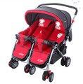 Los gemelos cochecito cochecito recién nacido plegable mosquito net doble carro de bebé