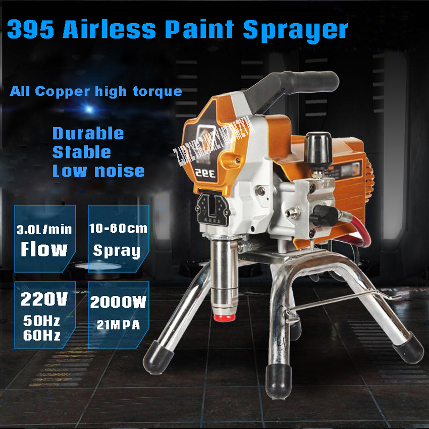 Gentle New Professional Electric High Pressure Airless Paint Sprayer Painting Machine 395 With 2000w Motor 220v 50 Tools Spray Guns 60hz 3200psi 3.0l Promote The Production Of Body Fluid And Saliva