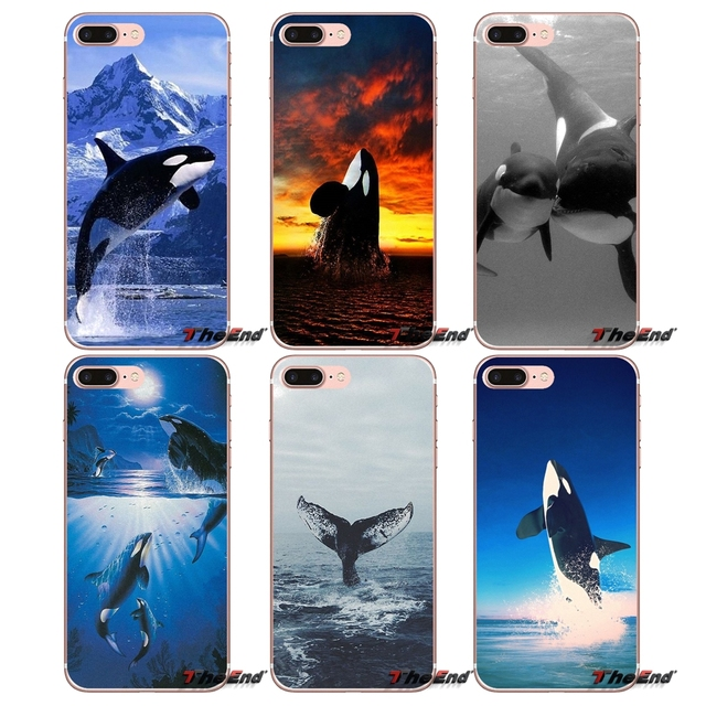 Design Cover For Sony Xperia Z Z1 Z2 Z3 Z5 compact M2 M4 M5 E3 T3 XA Aqua LG G4 G5 G3 G2 Mini Capa Killer Whale Orca Inspiration