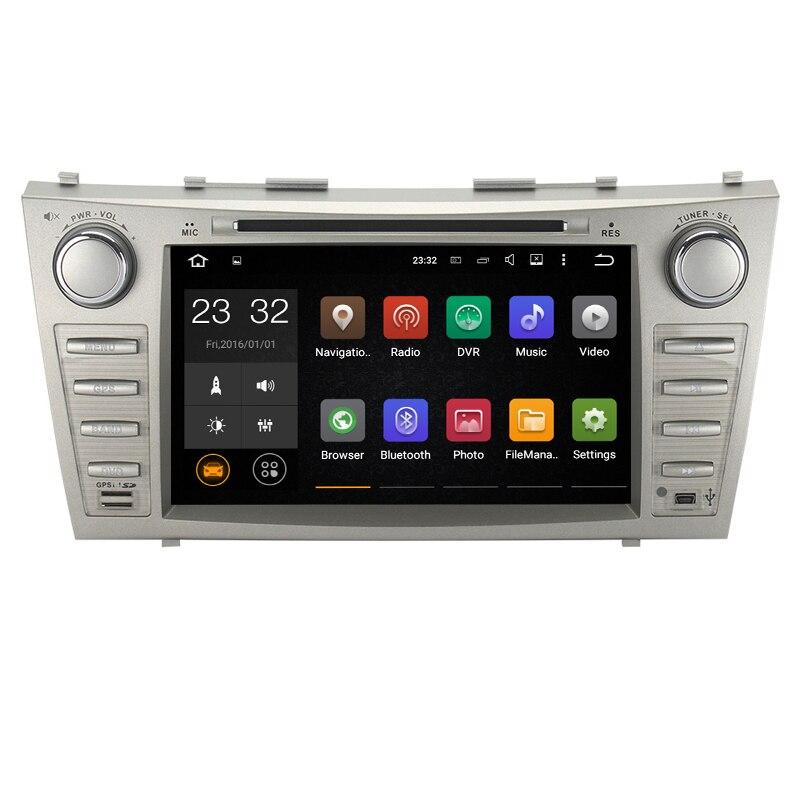 8 pouces Android 7.1 1024*600 lecteur DVD de voiture Navigation GPS pour Toyota Camry 2007 2008 2009 2010 2011 soutien DVR OBD 2 DAB 3G