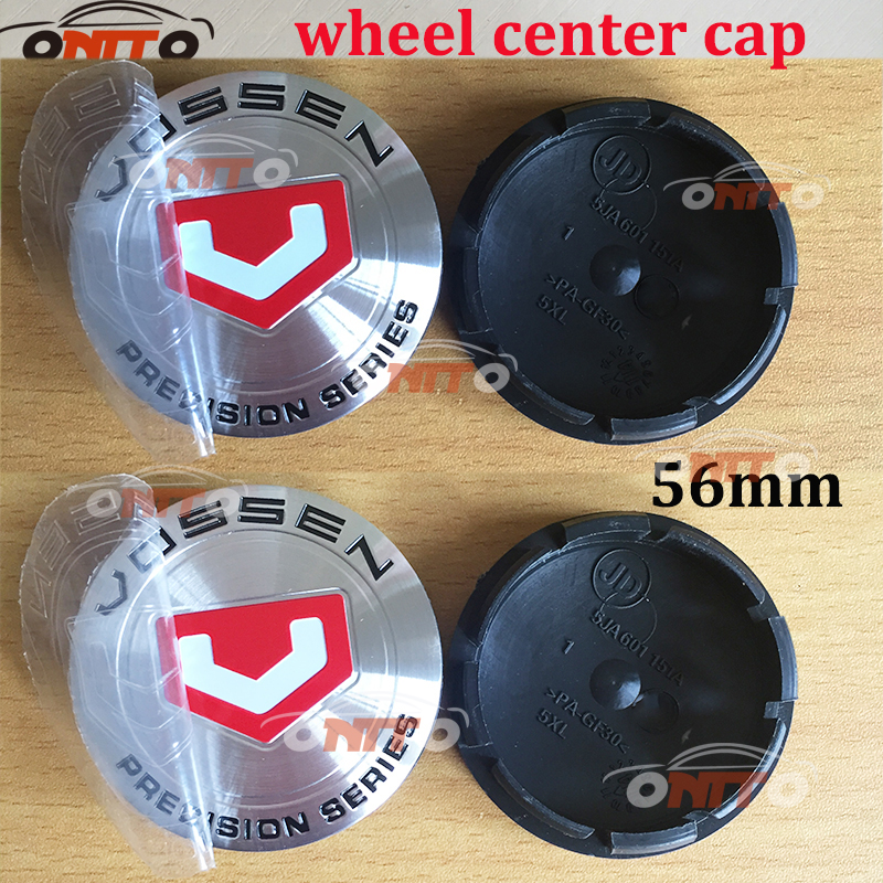 Image 3 - Car styling 4pcs/lot 56mm Black Car Custom Alloy ABS Rim Wheel Hub Hubcaps Center Center Caps Cover for vossen car emblem badge-in Wheel Center Caps from Automobiles & Motorcycles