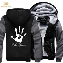 HAMPSON LANQE Skyrim Dark Brotherhood We Know Hand Brand Hoodies Men 2019 Winter Jackets Mens Sweatshirt Plus Size Streetwear
