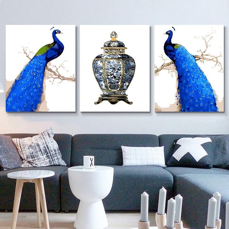 22 Blue peacocks