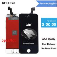 OVSNOVO AAA Quality No Dead Pixel Pantalla For IPhone 5 5s 5c 6 Plus 6s LCD