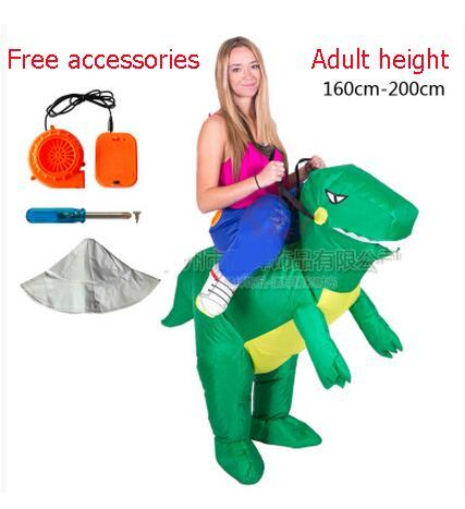 New 2017 Dragon T-Rex Dino Rider Purim Carnival Halloween Christmas Party Costumes Adult Kids Fan Inflatable Dinosaur Costume