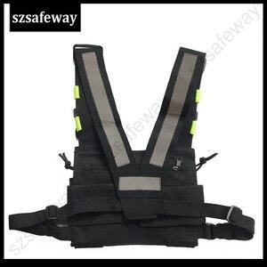 Image 3 - Naylon demeti iki yönlü radyo kılıfı göğüs çanta paketi Walkie Talkie için taşıma çantası kenwood için Baofeng UV 5R UV 82 için motorola